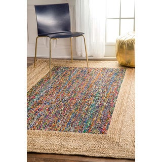 nuLOOM Casual Braided Cotton Jute Natural Rug (5' x 8')