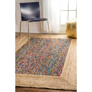 nuLOOM Casual Braided Cotton Jute Natural Rug (7'6 x 9'6)