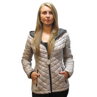 Halifax Light Grey Plus Size Down Packable Coat