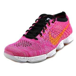 Nike Women's 'Flyknit Zoom Agility' Pink Mesh Athletic Shoes