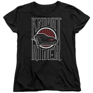 Knight Rider/Logo Short Sleeve Women's Tee in Black