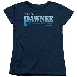 Parks & Rec/Pawnee Short Sleeve Women's Tee in Navy