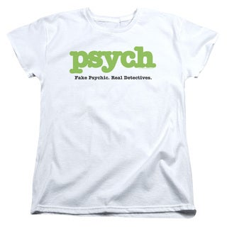 Psych/Title Short Sleeve Women's Tee in White