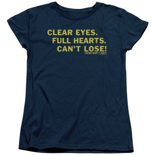 Friday Night Lights/Clear Eyes Short Sleeve Women's Tee in Navy