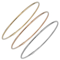 Stackable Strand Gold Bracelets