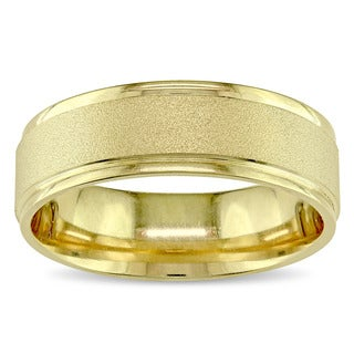 Men's Wedding Band in 14k Yellow Gold by The Miadora Signature Collection