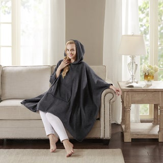Madison Park Signature Luxury Cashmere Poncho 2-Color Option