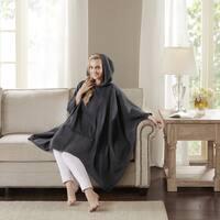 Madison Park Signature Luxury Cashmere Poncho 2-Color Option