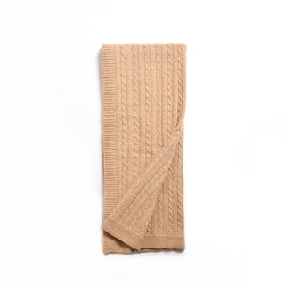 Kimberly Honey Wool Throw