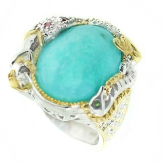 One-of-a-kind Michael Valitutti Amazonite and multi-gemstone Ocean Cocktail Ring