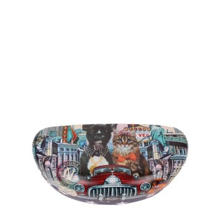 Nicole Lee Women's Signature Print Edition City Drive Multicolor Plastic Sunglasses Case