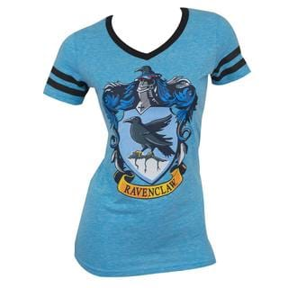 Harry Potter Ravenclaw Juniors Blue Cotton/Polyester V-neck T-Shirt