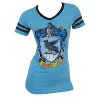 Harry Potter Ravenclaw Juniors Blue Cotton/Polyester V-neck T-Shirt