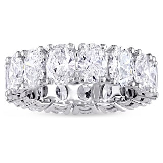 4-4/5ct TDW Oval-Cut Diamond Eternity Ring in 18k White Gold by The Miadora Signature Collection