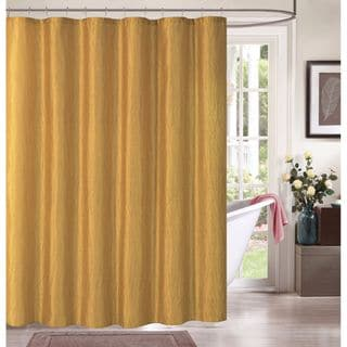 Sasha by Artisitc Linen Easy-to-hang Polyester Shower Curtain with 12 Roller Hooks