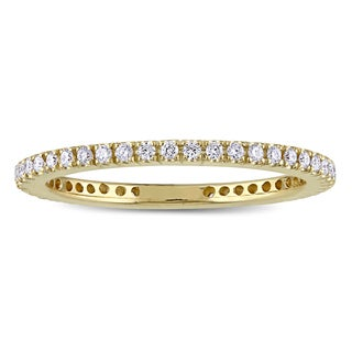 Miadora Signature Collection 14k Yellow Gold 1/3ct TDW Diamond Full Eternity Ring Wedding Band
