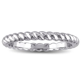 Twisted Wedding Band in 14k White Gold