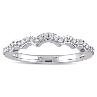 1/6ct TDW Multi-Arch Diamond Wedding Band in 14k White Gold