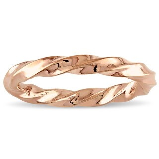 Miadora 18k Rose Gold Twisted Wedding Band