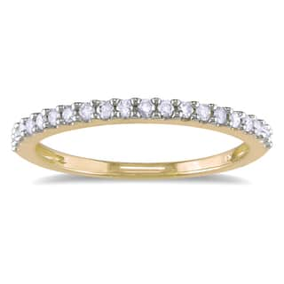 Stackable wedding rings for less overstock miadora 10k yellow gold 15ct tdw diamond stackable wedding band junglespirit Image collections