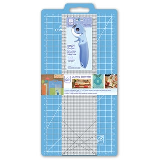 June Tailor Quilting Essentials Kit, with Mat, Ruler, and Rotary Cutter