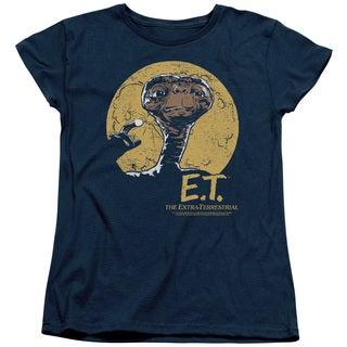 ET/Moon Frame Short Sleeve Women's Tee in Navy