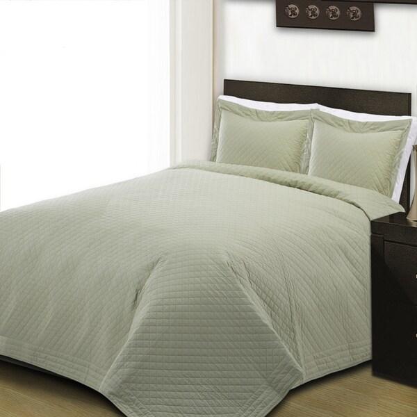 Cotton Basics 100% Cotton Diamond Solid Quilt
