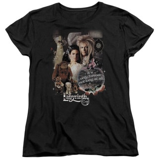 Labyrinth/25 Years Of Magic Short Sleeve Women's Tee in Black