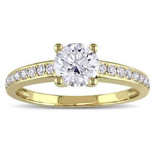 GIA Certified 1-1/6ct TDW Diamond Engagement Ring in 14k Yellow Gold by The Miadora Signature Collection