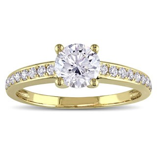 GIA Certified 1-1/6ct TDW Diamond Engagement Ring in 14k Yellow Gold by The Miadora Signature Collec