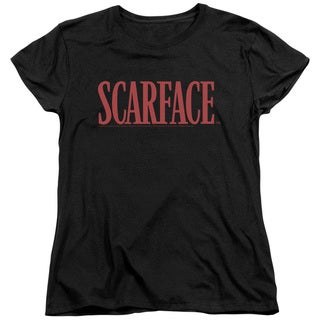 Scarface/Logo Short Sleeve Women's Tee in Black