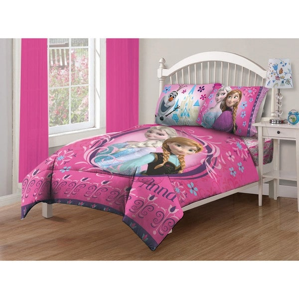 Disney Frozen Nordic Florals 4-piece Bed in a Bag with Sheet Set