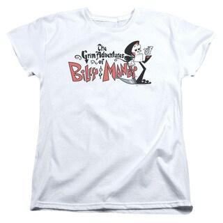 Billy & Mandy/Logo Short Sleeve Women's Tee in White