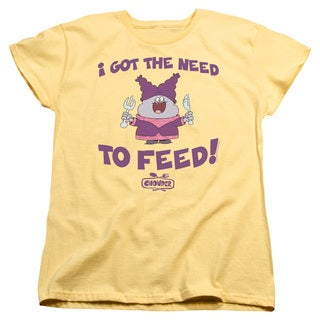 Chowder/The Need Short Sleeve Women's Tee in Banana
