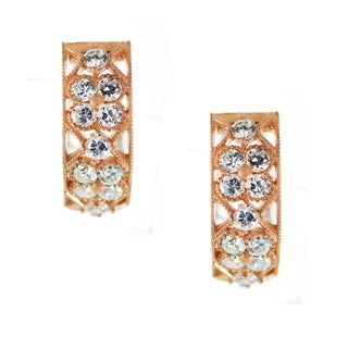 One-of-a-kind Michael Valitutti Rose Plated Cubic Zirconia Earrings