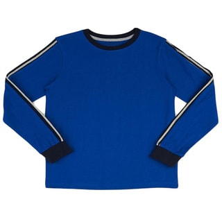 French Toast Boys' Long-sleeve Pieced Crew Neck Tee