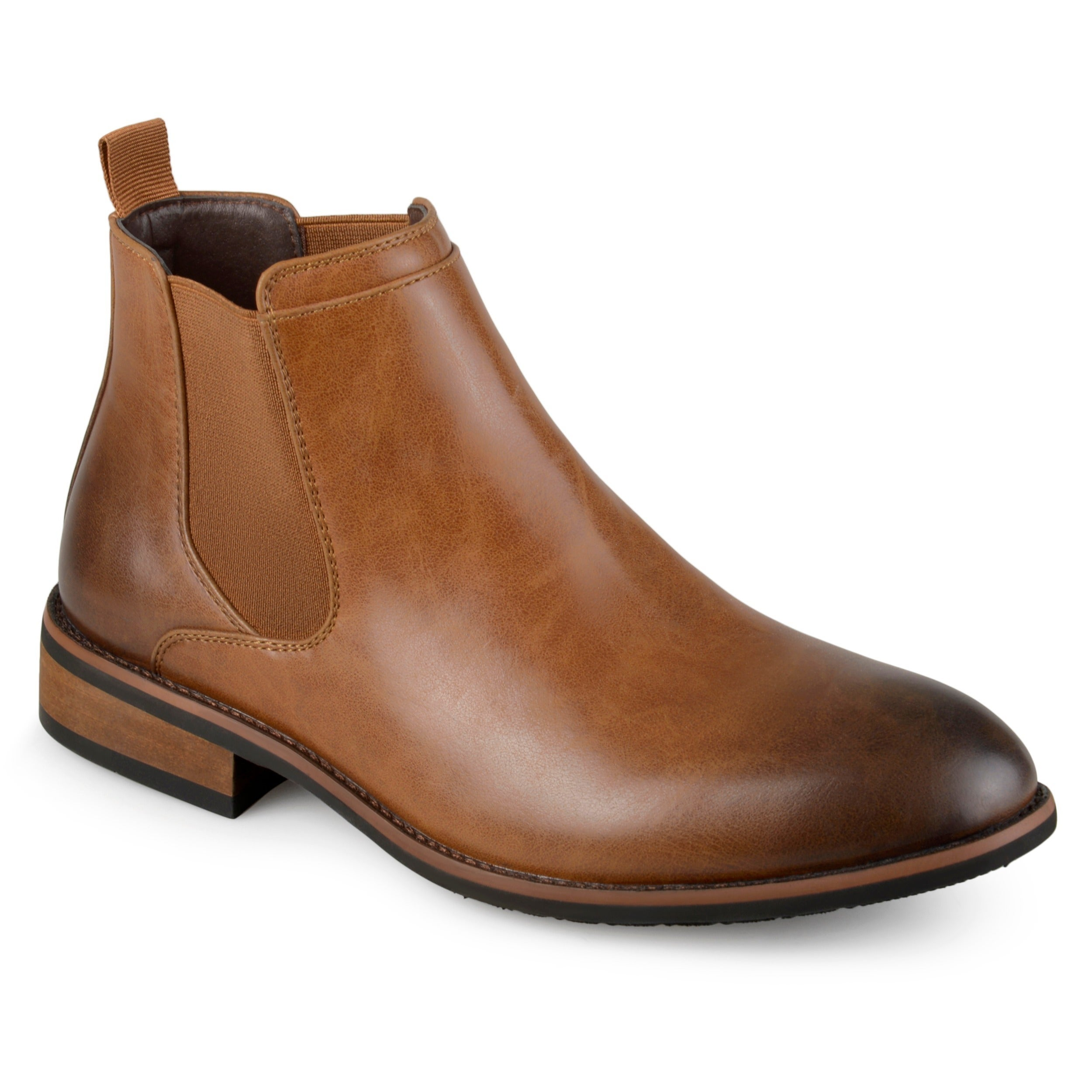 Faux Leather Brown Dress Shoes