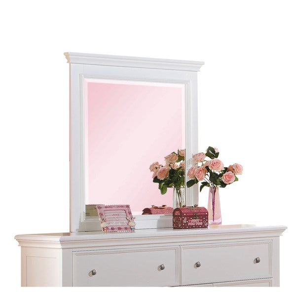 Lacey White Framed Mirror