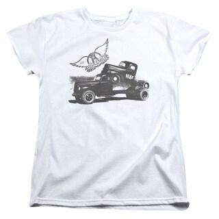 Aerosmith/Pump Short Sleeve Women's Tee in White