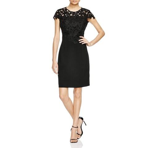 T Tahari Women's Carly Black Sheath Dress