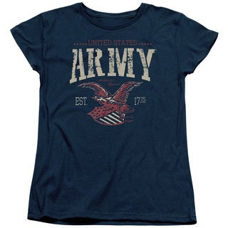 Army/Arch Short Sleeve Women's Tee in Navy