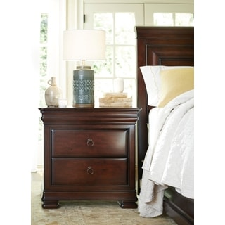 Cherry 2-Drawer Nightstand