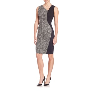 Elie Tahari Lyndsey Black White Jacquard Dress