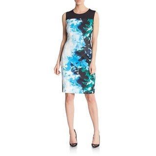 T Tahari Dakota Multicolored Polyester Abstract Print Dress