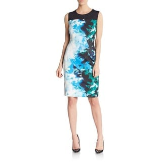 T Tahari Dakota Multicolored Abstract Print Dress