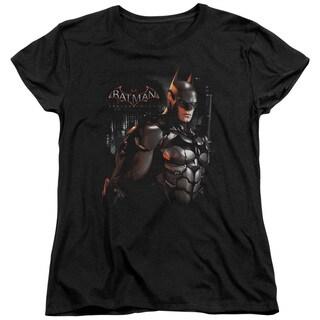 Batman Arkham Knight/Dark Knight Short Sleeve Women's Tee in Black