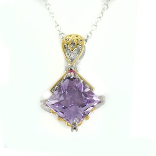 One Of A Kind Michael Valitutti Pink Amethyst African Amethyst And Pink Sapphire Pendant