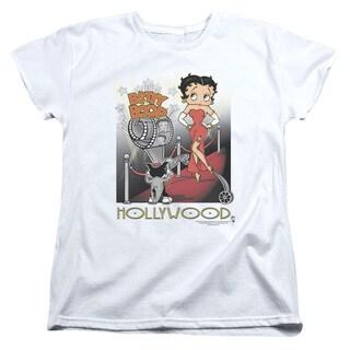 Boop/Hollywood Short Sleeve Women's Tee in White