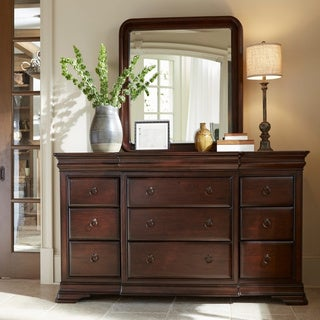 Cherry 9-Drawer Dresser