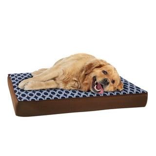 EZ Living Home Orbits Water Repellent Memory Foam Pillow Pet Bed
